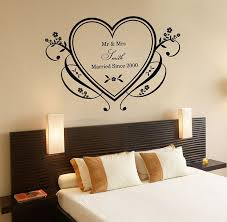 Custom Made Couple Name Walll Stickers Personalized Heart Wedding Wallpaper Wall Decals Art Home Room Decor