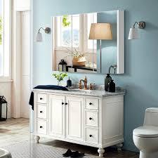 costway badezimmer spiegelschrank 3 türen wandschrank