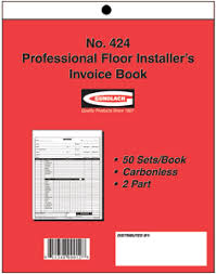 Gundlach Carpet Installer Invoice Book Floor Source and Supply