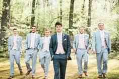 Groom Groomsmen And Ushers Dark Suit For Light Spring Wedding ColorsSpring
