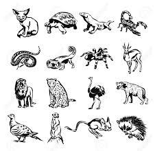 Desert Animals Clipart Black And White ClipartXtras