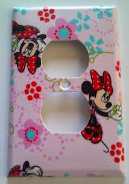 Mickey Mouse Bathroom Decorating Ideas by Disney Minnie Mouse Outlet Plate Cover Bedroom Bathroom Kitchen
