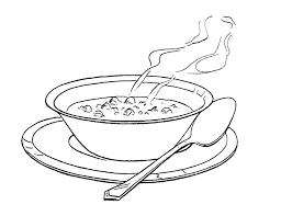 Soup Bowl Coloring Page For Kids Kids Coloring Pages