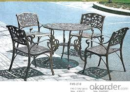 Buy Metal Table And Garden Rattan Dining Set Outdoor Chair ...