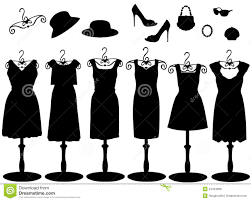 Womens Clothes Accessories Silhouette Illustration 24434868