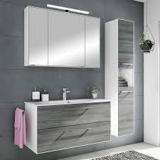 waschtisch spiegel fes 3065 66 badezimmer möbel in weiß matt sangallo grau quer nb b h t 102 4 200 44 7cm