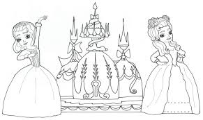 SIster Princess Sofia Coloring Pages