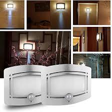 2 set motion sensor light inchant bewegungssensor wandleuchte licht innen bewegungsmelder drahtloses batteriebetriebenes wandstrahler aluminium
