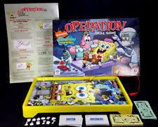 Milton Bradley Operation Sponge Bob Square Pants Edition Boardgame