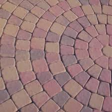 Menards 16 Patio Blocks by 6 1 2 U0027 Cobble Circle Paver Kit At Menards
