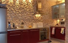 küche steinwand optik mosteria steinpaneele