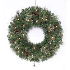 3ft Pre Lit Blossom Christmas Tree by Shop Artificial Christmas Wreaths At Lowes Com