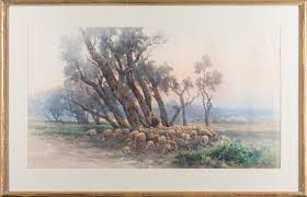 100 Angelos Landscape ANGELOS GIALLINA Watercolour Signed Bukowskis