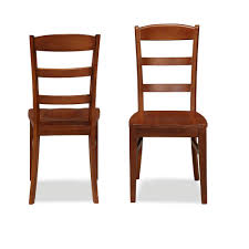 Home Styles Aspen Rustic Cherry Wood Ladder Back Dining Chair Set Of 2
