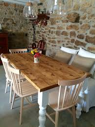 Rustic Farmhouse Dining Table, Country Cottage, Country Kitchen, Farmhouse  Dining Table Painted Legs - 120 X 86cm / White 30 Best Ding Room Decorating Ideas Pictures Of Diy Projects Chalk Paint Table Makeover Sarah Joy How I Used An Old Wood Ding Table Outside Songbird Painted Sets Great Fniture Trading Company And Chairs Hand Mexican Ikea Bentleyblonde Farmhouse Set About Bench Igpeuk Artime Farmhouse And 4 Chairs 180cm X 91cm Rustic Oak Painted In Wimborne White