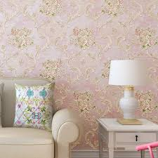 American Style Rustic Small Flower Non Woven Wallpaper Roll Blue Pink Beige 3D Embossed Floral Living Room Wall Paper For Walls In Wallpapers From Home