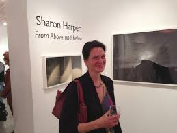 Sharon Harper With Her Photographs
