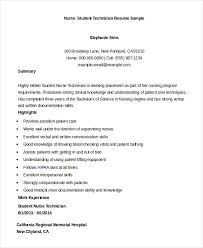 Resume For Nursing College Students