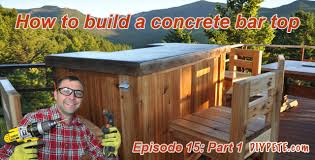 Wooden Patio Bar Ideas by How To Build A Patio Bar With A Concrete Counter Top Episode 15