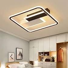 yealeo 60w led dimmbare deckenleuchte mit fernbedienung 50cm moderne deckenle einfache rechteckige leuchte für wohnzimmer schlafzimmer büro halle