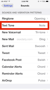 How to Change the iPhone Text Message Sound Effect