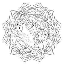 Ornate American Bulldog From My Decorative Dogs Adult Coloring Book See It Here