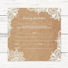 Rustic Wedding Invitations Amazoncouk