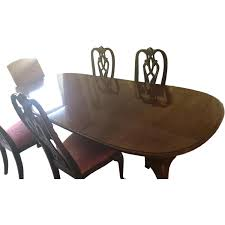 Ethan Allen Dining Table W/ 8 Chairs - AptDeco Ethan Allen Ding Room Chairs Table Antique Ding Room Table And Hutch Posts Facebook European Paint Finishes Lovely Tables Darealashcom Round Set For 6 Elegant Formal Fniture Home Decoration 2019 Perfect Pare Fancy Country French New Used With Back To Black And White Sale At Watercress Springs