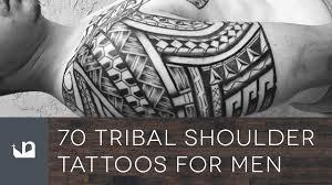 70 Tribal Shoulder Tattoos For Men