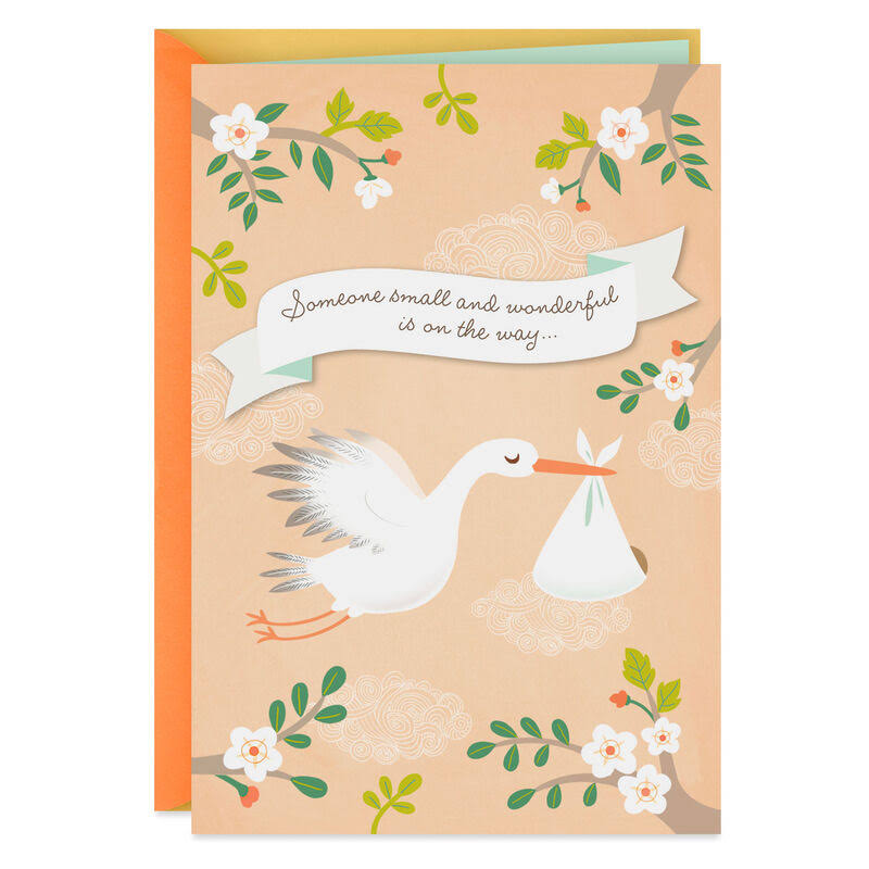 Small and Wonderful New Baby Card