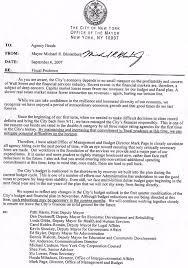 Bud memo from Mayor Bloomberg NY Daily News