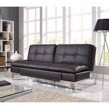 Mainstays Sofa Sleeper Black Faux Leather by Euro Loungers Costco