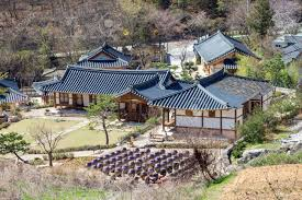 100 South Korean Houses Kimchi Pots In Front Of Traditional Houses At Wanju County