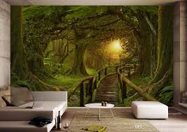 Custom Wallpaper For Walls 3 D Forest Wall Wallpapers For