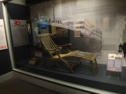 deck chair from the titanic picture of maritime museum of the