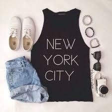 There Are 4 Tips To Buy These Shoes New York City Shirt T Black Vintage High Waisted Denim Shorts White Writting