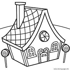 Candy House Coloring Pages