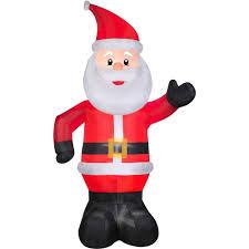 Walmart Halloween Blow Up Decorations by Gemmy Airblown Christmas Inflatables 10 U0027 Santa Walmart Com