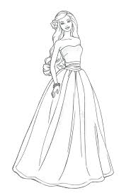 Barbie Wedding Coloring Pages Free Printable Book Girls