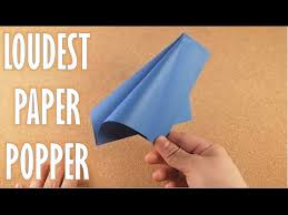 How To Make A Paper Popper Very Loud And Easy