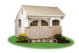 4x8 Metal Storage Shed by Providence Carriage Style Pine Creek Structures