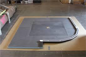 seattle glass block waterproof pan custom tile pan fundo pan