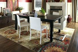 Rug Under Dining Table Marvelous Ideas Attractive Inspiration Area Di
