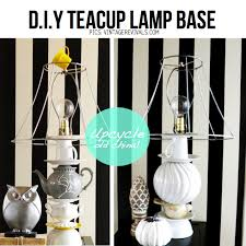 DIY Teacup Lamp Base