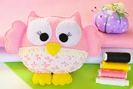 Download Cute Owl Toy Is Made From Felt And Fabric Home Decor A Childs