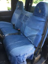 Recycled Old Jeans Into A Custom Seat Cover For My Husbands Truck ... Licensed Collegiate Custom Fit Seat Covers By Coverking Seatsaver Cover Southern Truck Outfitters Oe Fia Oe3826gray Nelson Equipment And Tweed Sharptruckcom Root One Six Off Road Saddleman Toyota Sienna 2018 Canvas Covercraft Hp Muscle Car Amazoncom Fh Group Fhcm217 2007 2013 Chevrolet Silverado Oe Semi Buff Moda Leatherette For Ram Trucks