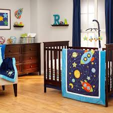 colorful space ship and stars baby boys nursery 4 piece infant