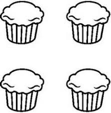 Black and White Cupcake Outline Bing