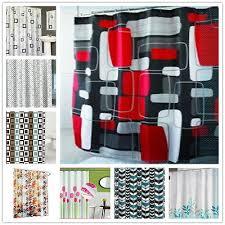 duschvorhang zacken textil vorhang inkl ringe 180x180 cm