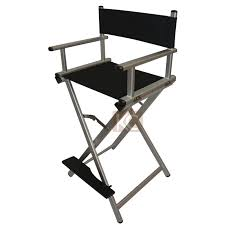 Aluminum Directors Chair With Swivel Desk by Folding Aluminum Director Chair Portable Makeup Chair Silver